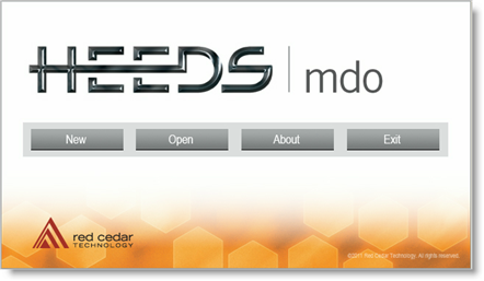 HEEDS MDO Start Screen